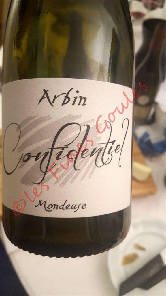 Mondeuse Arbin Trosset Confidentiel 2011