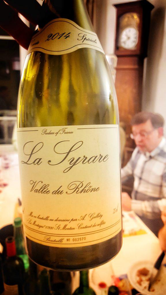 France, Rhône, Côte du Vivarais, Alain et David-Alexandre Galetty, cuvée spéciale La Syrare 2014